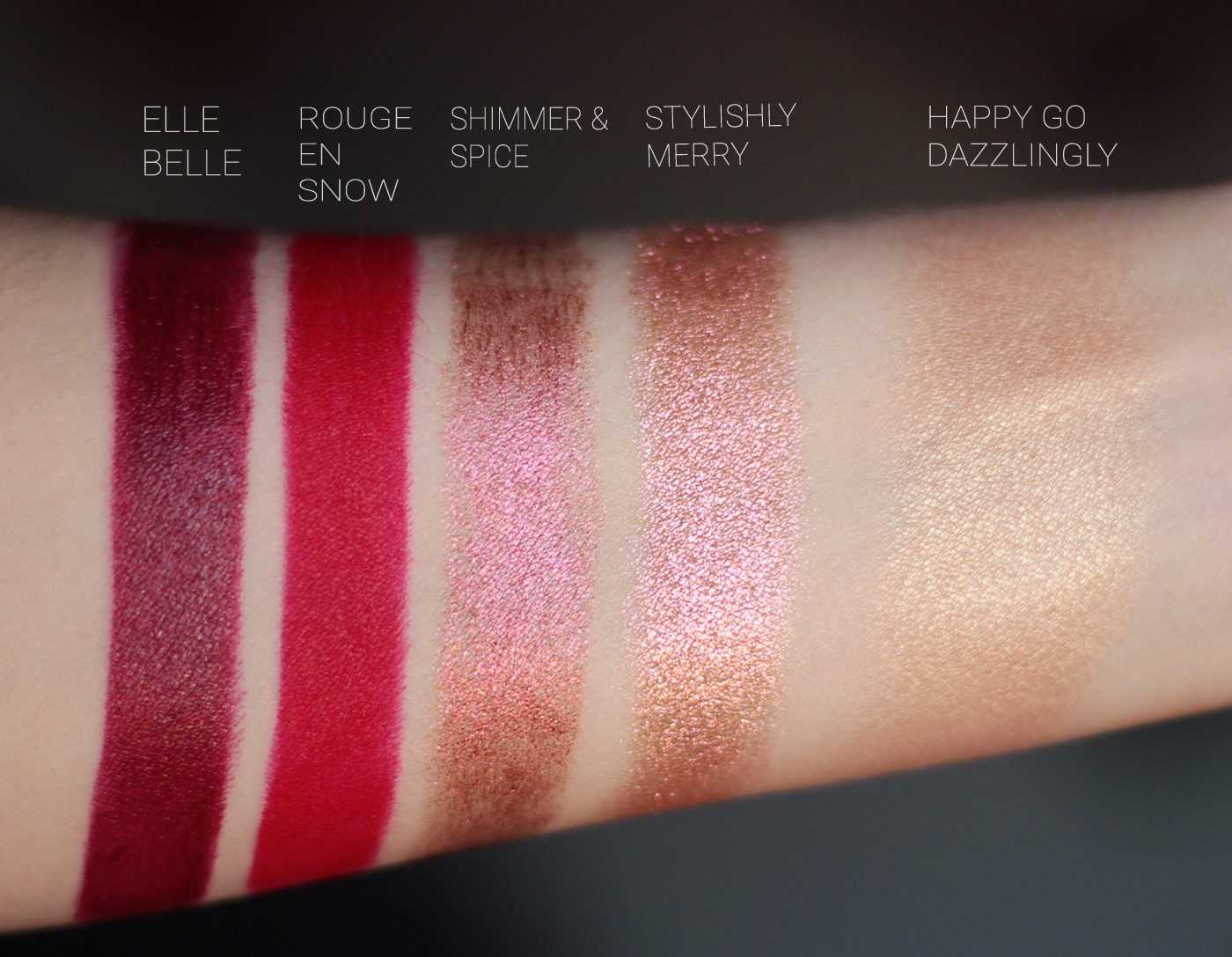 MAC Snow Ball collection swatches