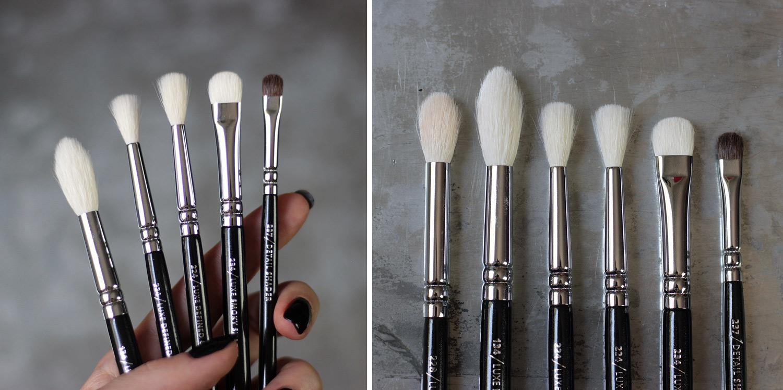 ZOEVA brushes (za usporedbu 228) 134 Face Fusion, 224 Detail Crease, 234 Smoky Shader, 237 Detail Shader