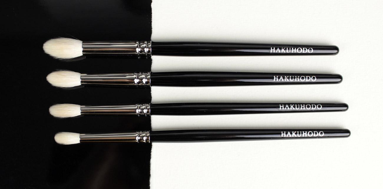 Hakuhodo J series, from top tu bottom: J5522, J142, J146, J5529