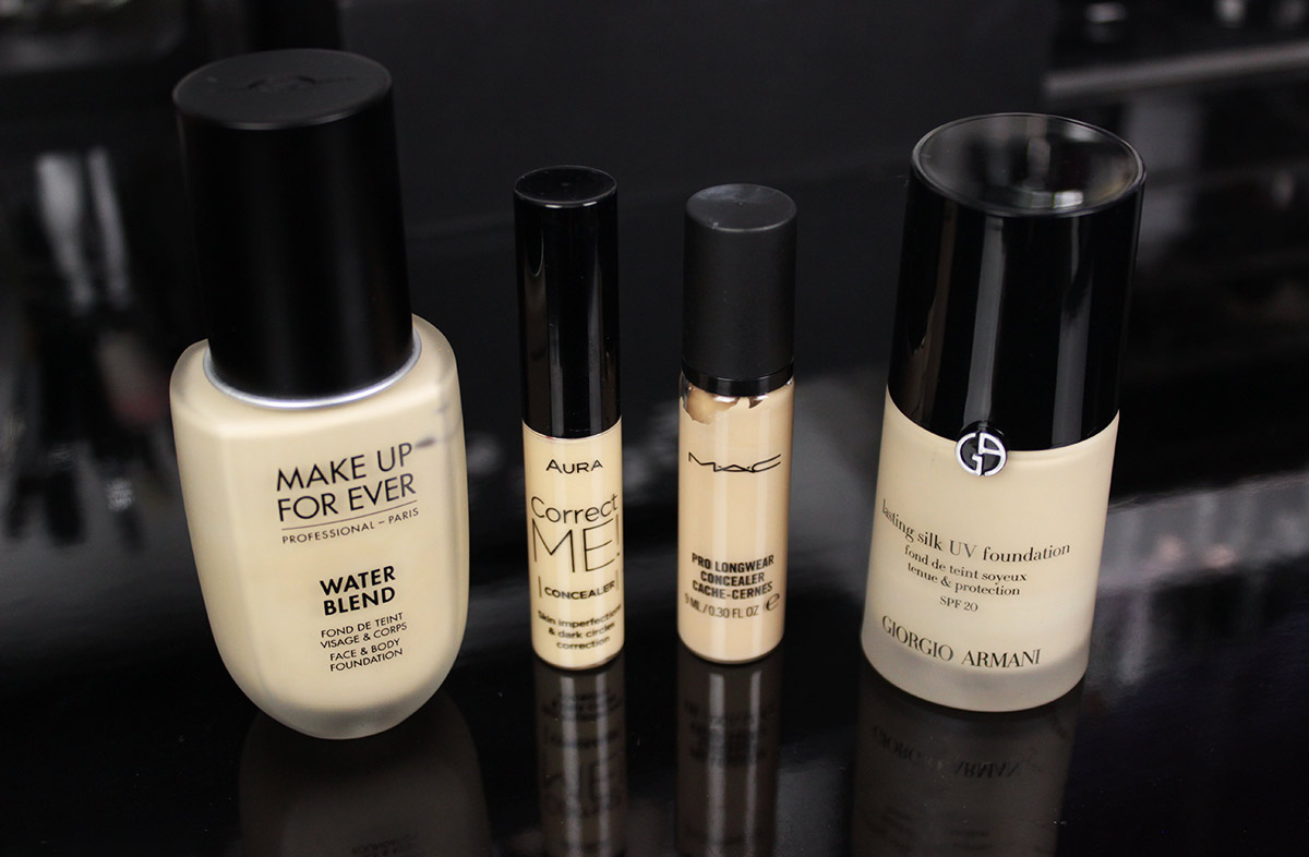Favorite foundations and concealers