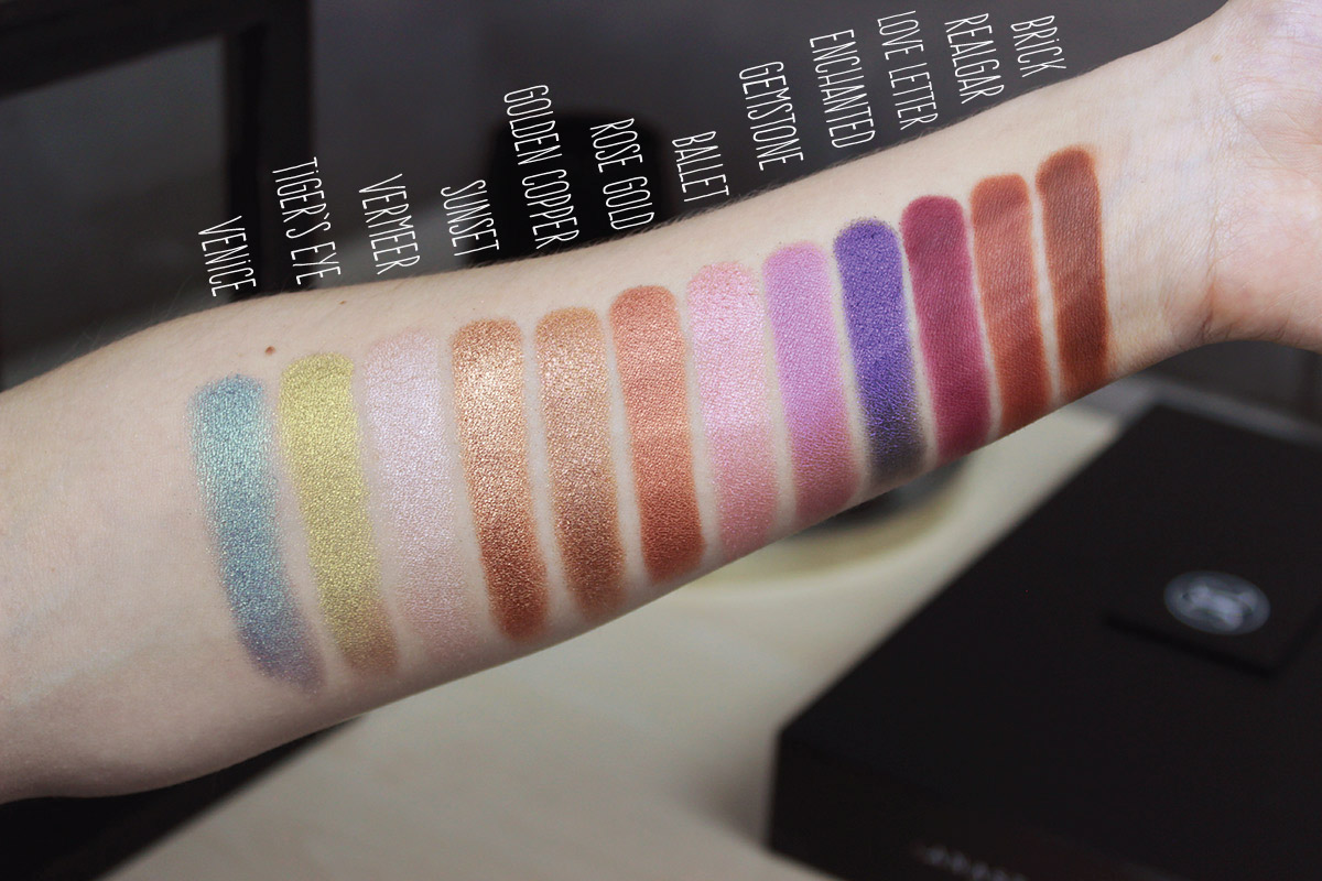 Anastasia Beverly Hills SUMMER COLLECTION Eyeshadow Swatches